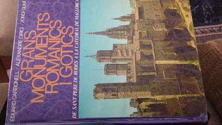 llibre en catala de monuments romanics i gotics