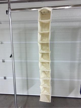 Organizador zapatos armario. 120 x 14 cm