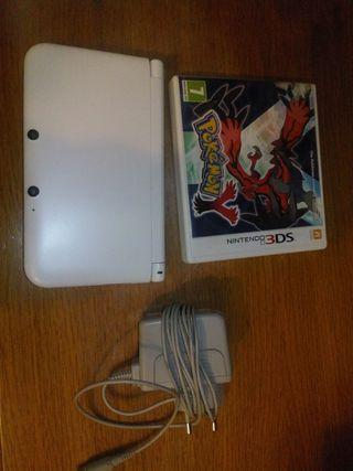nintendo 3ds xl blanca mas cargador y pokemon Y