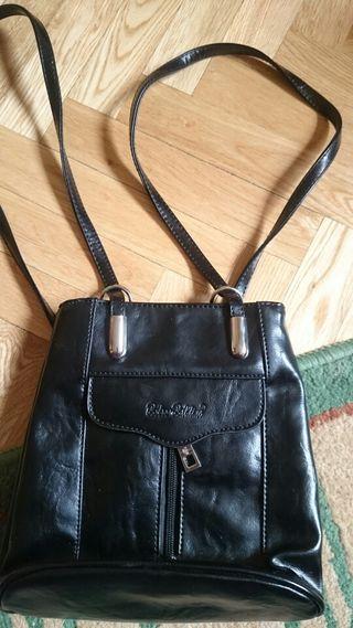mochila negra polipiel original marca baldine