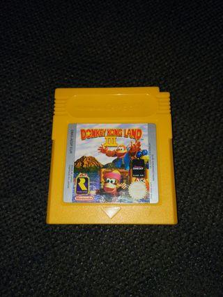 Videojuego Nintendo Game boy Donkey Kong Land III