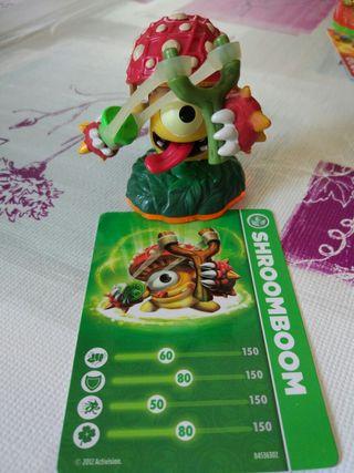 Figura Skylanders Wii con carta Shroomboom