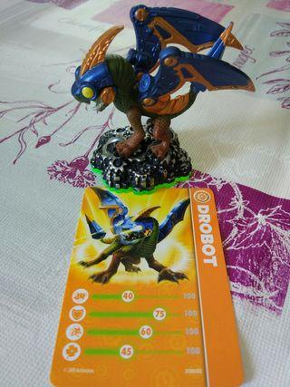Figura Skylanders Wii con carta Drobot