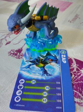 Figura Skylanders Wii con carta Zap