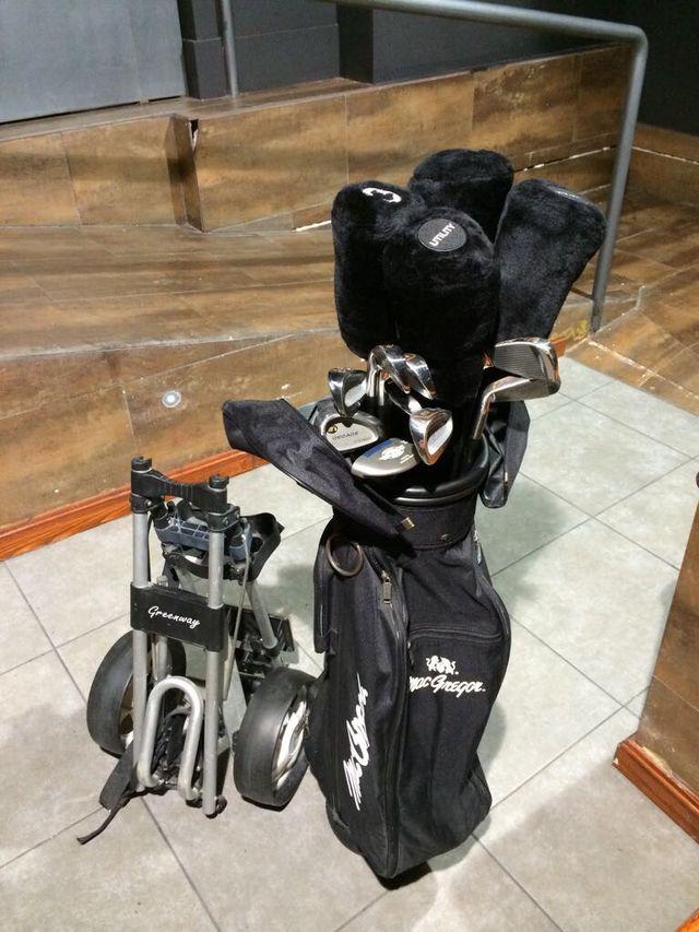Palos, carro y bolsa Golf