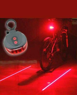 seguridad ciclismo bici laser led flash luz