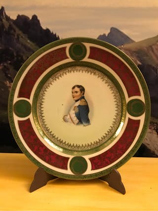 Plato antiguo de Napoleon de la casa MZ Austria
