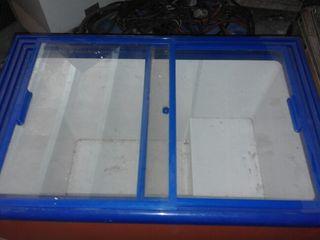 arcon congelador puertas de cristal