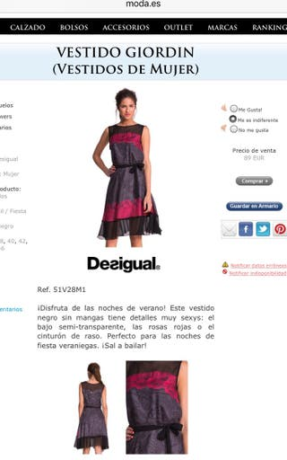 Vestido DESIGUAL talla 44 CON ETIQUETA