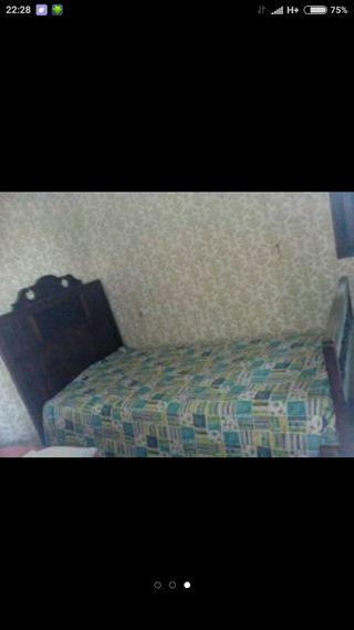 cama vintage madera