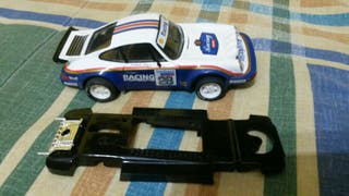 Porsche 911 Scalextric rally y chasis