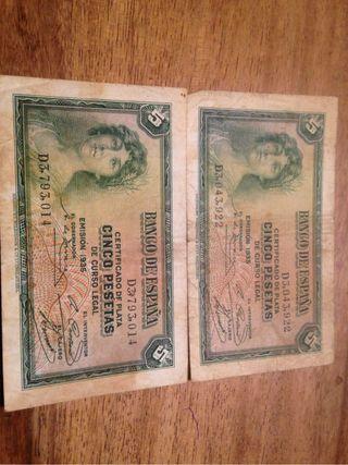 5 pesetas de 1935