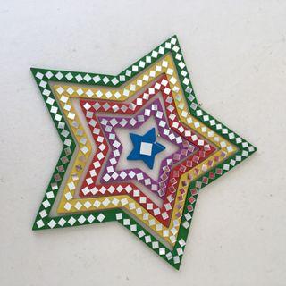 Estrella colgante decorativo