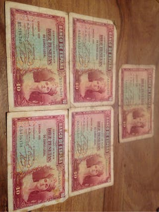 10 pesetas de 1935