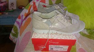 zapatillas gris mujer fluchos nuevas 36