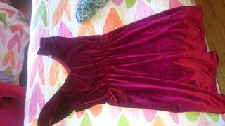 vestido terciopelo granate M