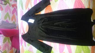 vestido mujer negro terciopelo s/m