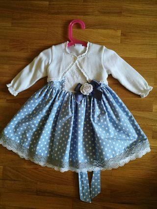 conjunto vestido ceremonia niña 2 años