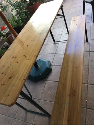 Conjunto mesa y bancos