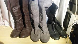 pack 3 botas altas