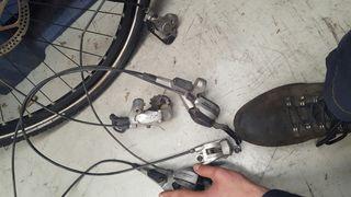 frenos y cambio trasero shimano bici