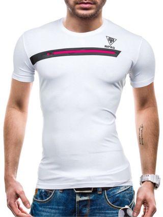 Camiseta Hombre Slim Fit, Color Blanca, Talla M.