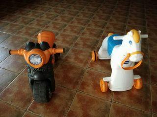 caballo y moto