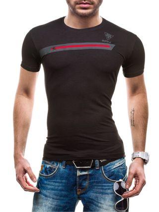 Camiseta hombre Slim Fit, Color Negro, Talla M.