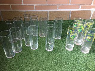 Lote 17 vasos tubo