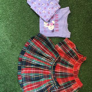 Dos falditas y un pijama niña