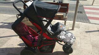 carrito para hermanos de diferente edad