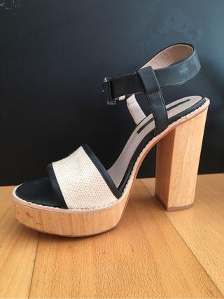 Zapatos zara tacon nuevo 38