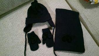 nuevo diseño llega mayor selección de Conjunto gorro, bufanda y guantes bebé de segunda mano por ...