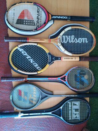 Raquetas historicas tenis y squash