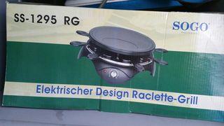 Racclette y grill eléctrica