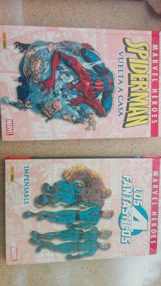 marvel heroes (spiderman y 4 fantasticos)