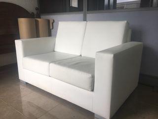 Sofa polipiel dos plazas