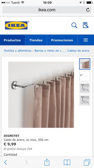 Riel cortina Dignitet Ikea