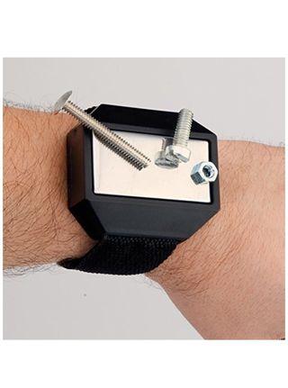 Pulsera magnética para llevar tornillos y clavos