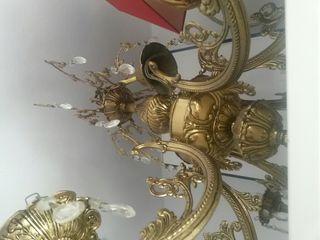 lampara de bronce puro