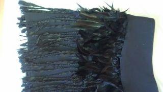 falda plumas fiesta
