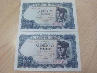 pareja 500 pesetas 1971