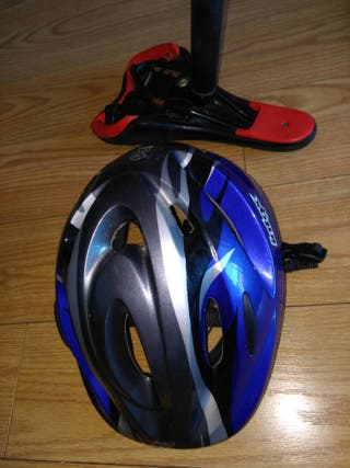 casco bici niño y sillin