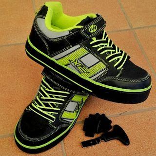zapatillas heelys con ruedas y luces nuevas 35