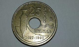 25 pesetas MELILLA 1997