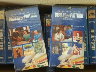Videos. Curso de dibujo y pintura Larousse. VHS.
