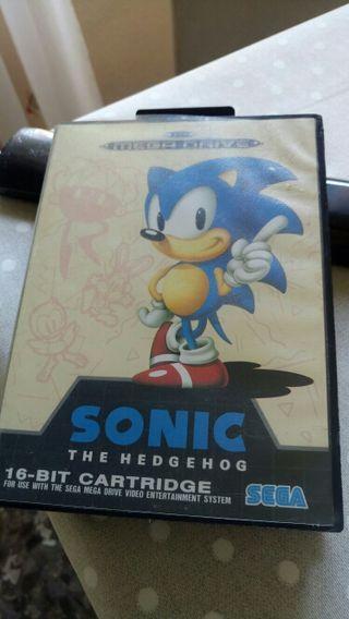 Juego de Sonic para Sega Mega Drive