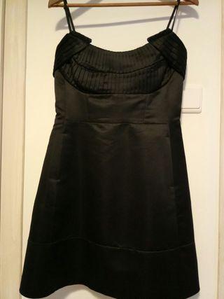 vestido negro Mango talla L