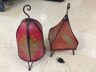 2 lámparas árabes