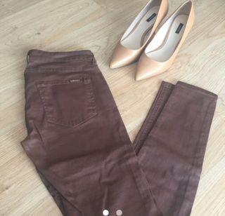 Pantalon Mango 38 marron